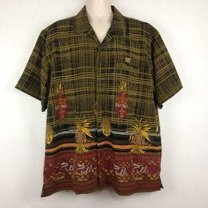 Pelle Pelle Marc Buchanan Mens Tiki Hawaiian Shirt